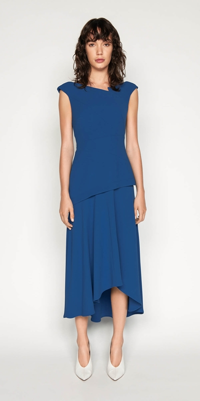 Made in Australia | Crepe Notched Boat Neck Dress