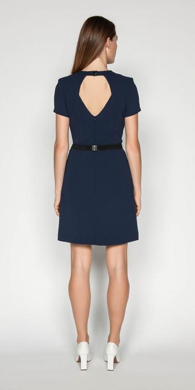 Dresses | Crepe Belted Shift Dress