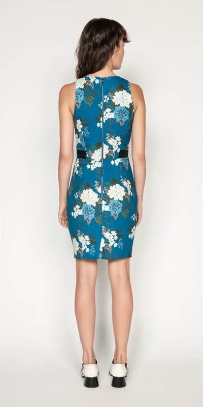 Dresses | Floral Crepe Tucked Waist Dress