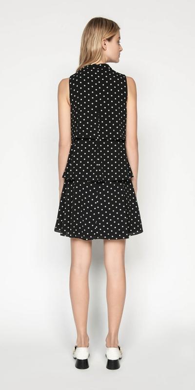 Dresses | Spot Georgette Tiered Dress