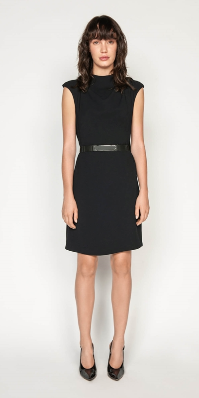Wear to Work | Crepe Draped Neck Dress