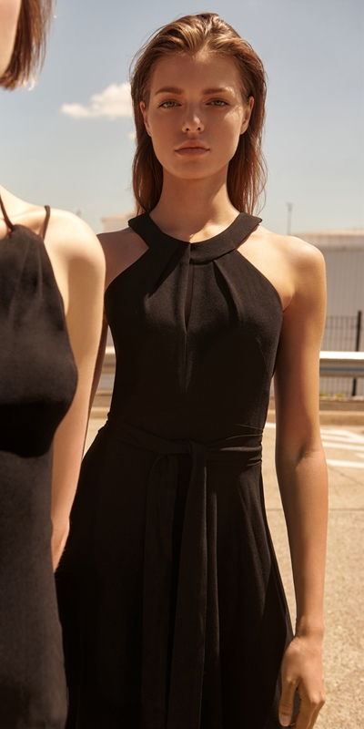 Made in Australia  | Crepe Halter Neck Dress