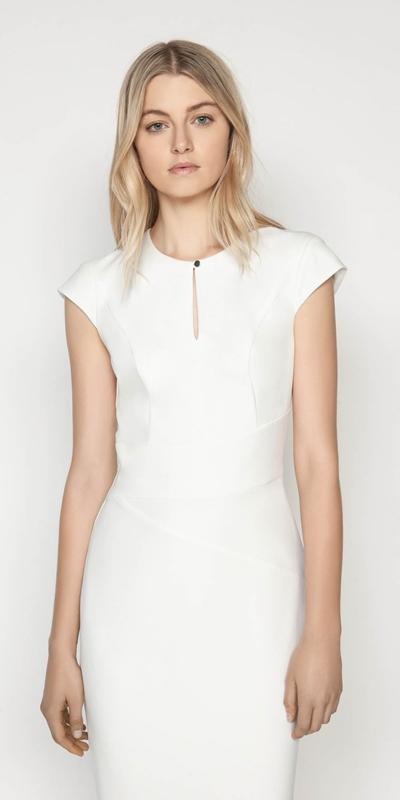 Dresses  | Crepe Cap sleeve Pencil Dress