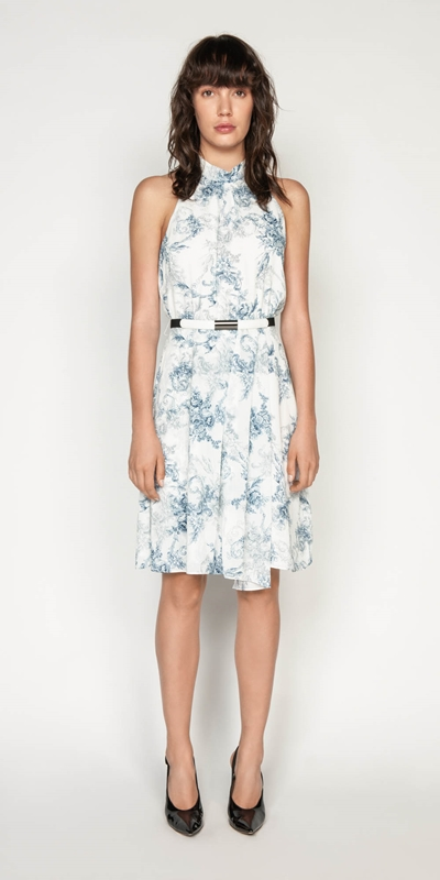 Made in Australia | Toile Crinkle Georgette Dress