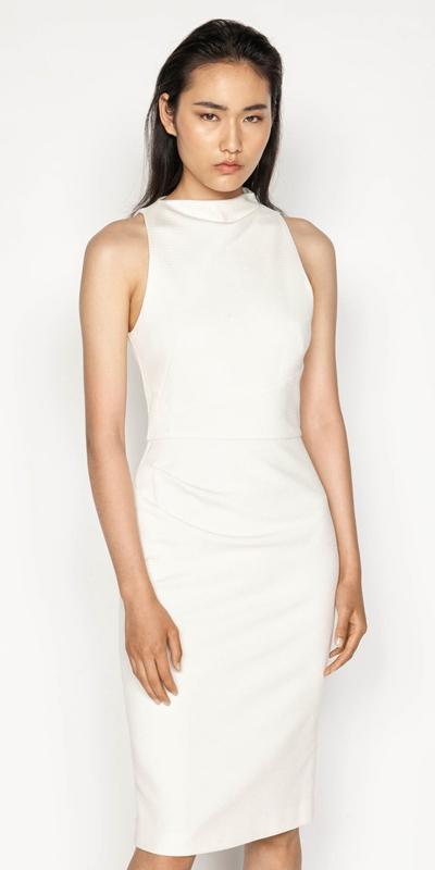 Dresses    Diamond Jacquard Pencil Dress