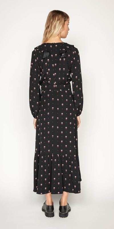 Dresses   Geometric Motif Midi Dress