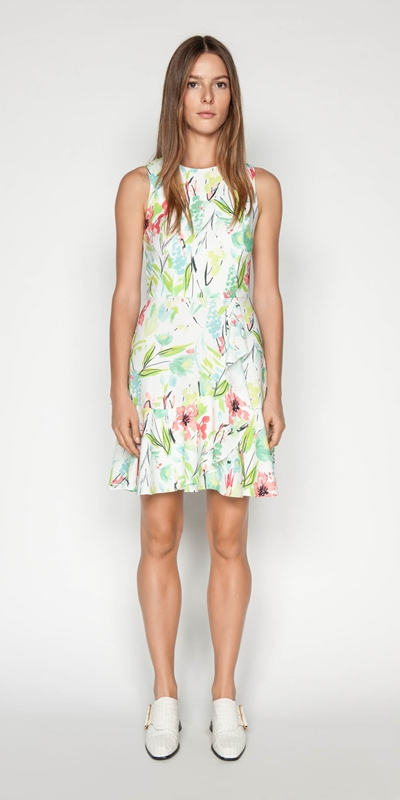 Outlet | Waterlily Crepe Frill Dress