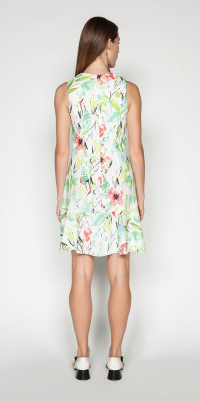 Dresses | Waterlily Crepe Frill Dress