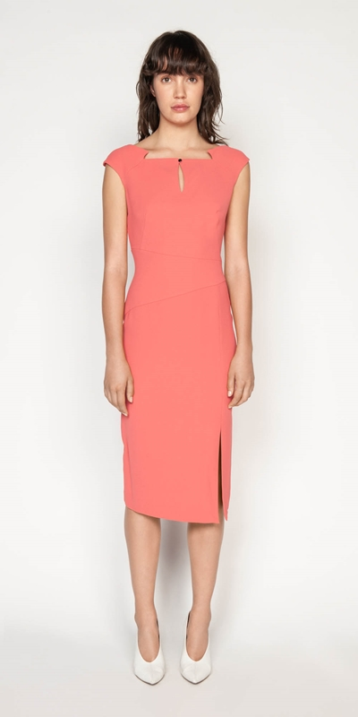 Wear to Work | Crepe Keyhole Pencil Dress