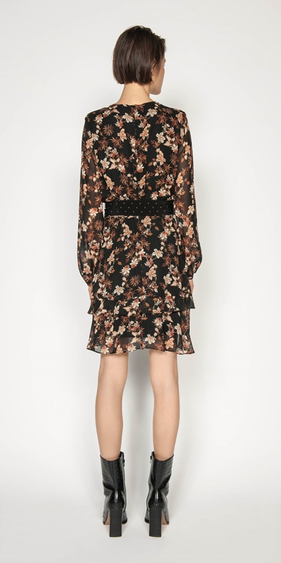 Dresses | Mini Paisley Blouson Sleeve Dress