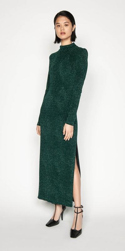 Knitwear | Metallic Longline Dress
