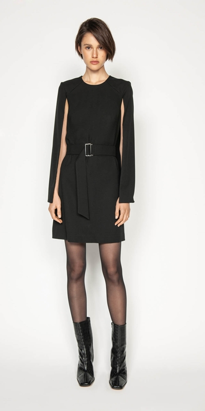 Wear to Work | Cape Sleeve Shift Dress