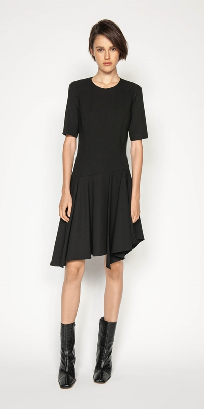 Dresses | Asymmetric Frill Hem Dress