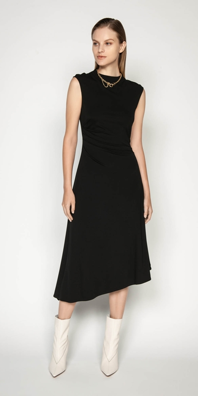 Dresses | Jersey Draped Waist Dress