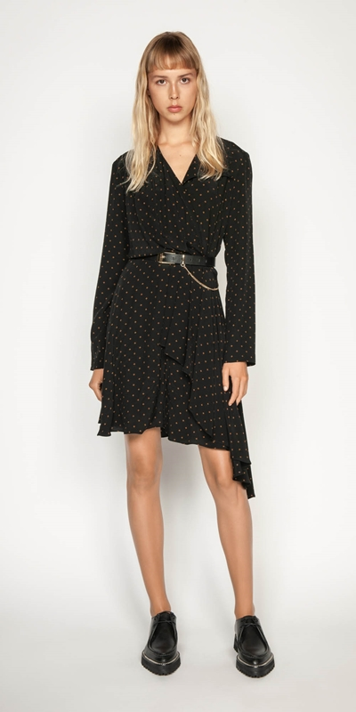 Wear to Work | Diamond Motif Draped Dress