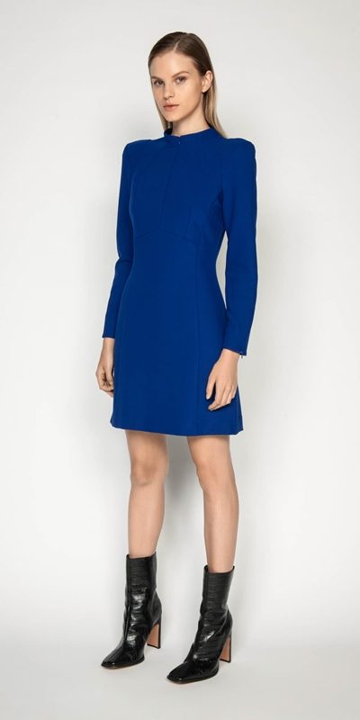 Wear to Work | Long Sleeve Funnel Neck Dress