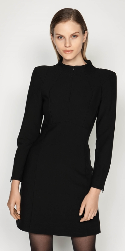 Dresses | Long Sleeve Funnel Neck Dress