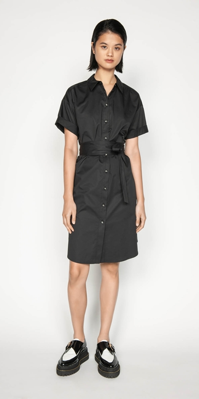 Dresses | Belted Shirt Dress