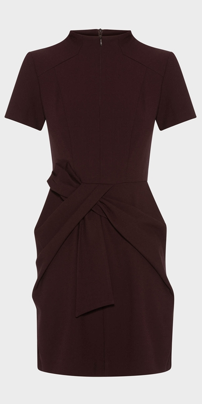 Wear to Work | Aubergine Twist Waist Dress