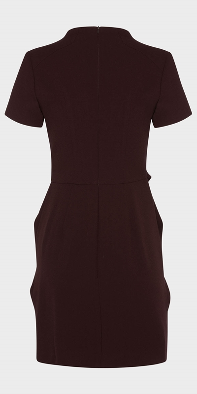 Work From Home  | Aubergine Twist Waist Dress