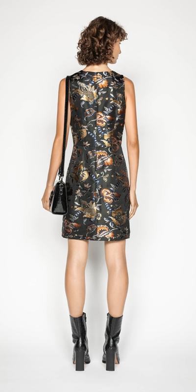 Dresses   Golden Tapestry A-line Dress