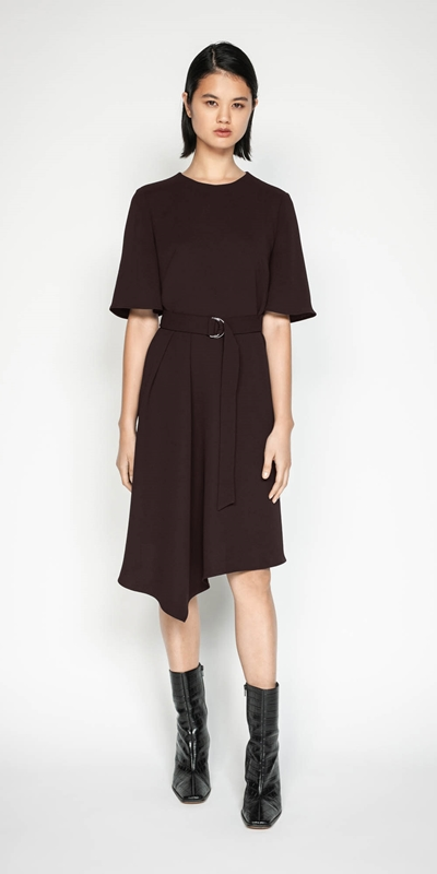 Wear to Work | Plum Belted Dress