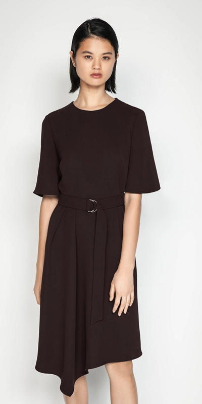 Sale  | Plum Belted Dress