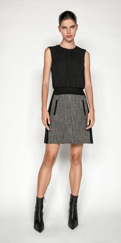 Dresses | Melange Tweed Mini Dress