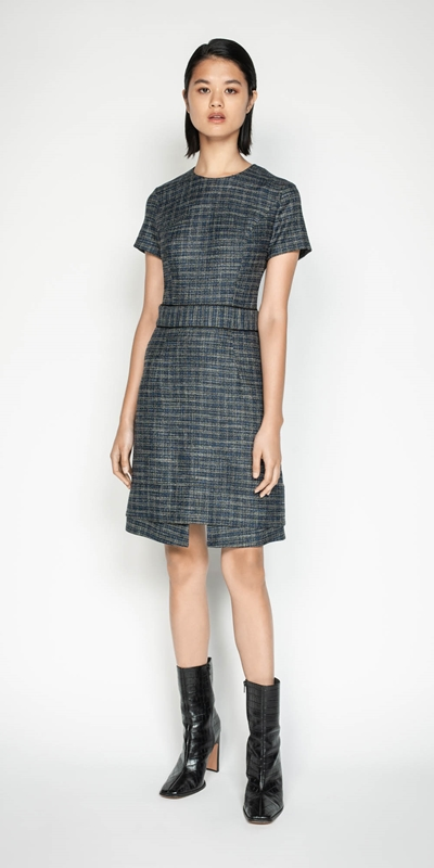 Sale | Melange Tweed A-line Dress