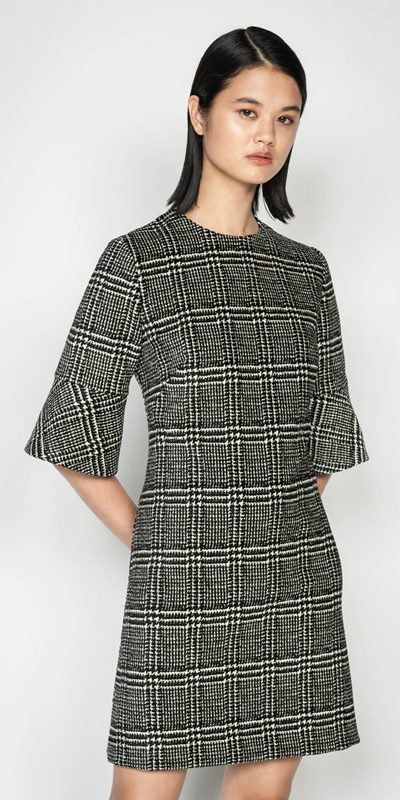 Wear to Work  | Chenille Check Shift Dress