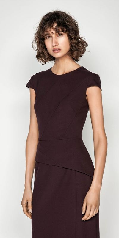 Dresses  | Crepe Cap Sleeve Dress