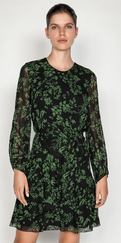 Dresses    Ivy Floral Blouson Sleeve Dress