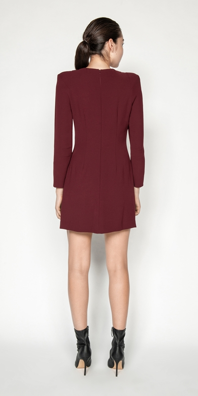 Dresses   Tuck Waist Mini Dress
