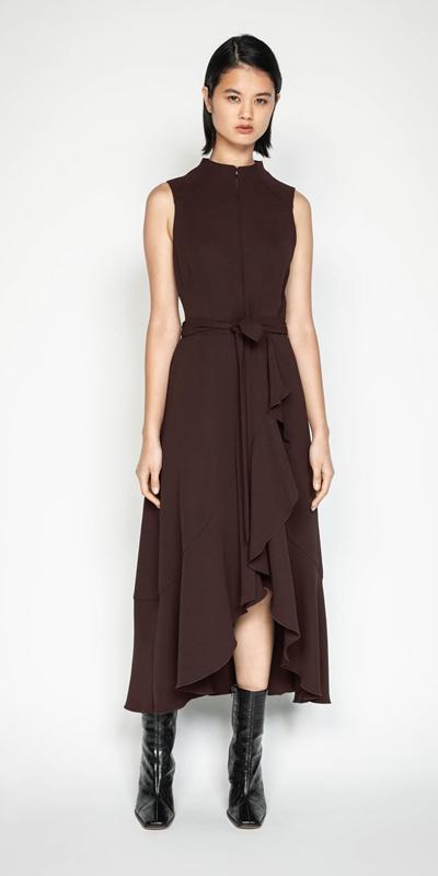 New Arrivals | Plum Frilled Hem Midi Dress