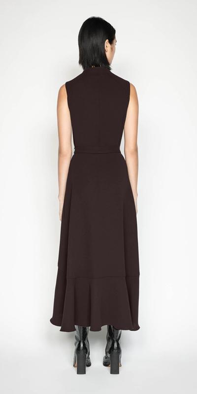 Dresses | Plum Frilled Hem Midi Dress