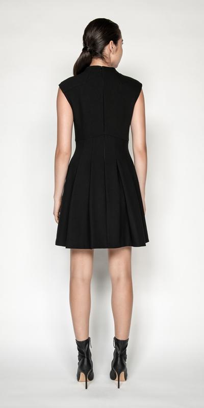 Dresses   Twill Funnel Neck Dress