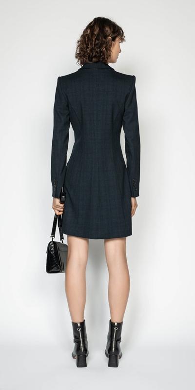 Dresses | Ink Check Blazer Dress