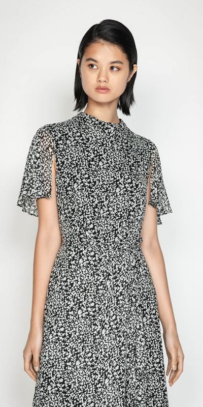 Dresses  | Abstract Spot Draped Waist Dress