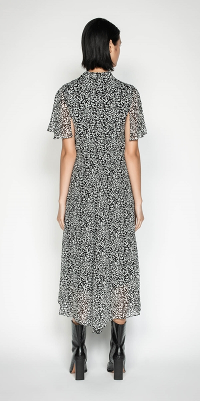 Dresses | Abstract Spot Draped Waist Dress