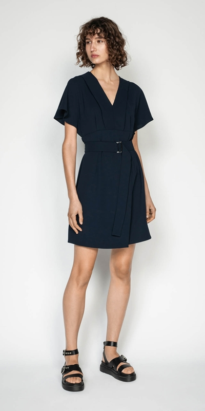 Made in Australia | Belted Magyar Sleeve Dress