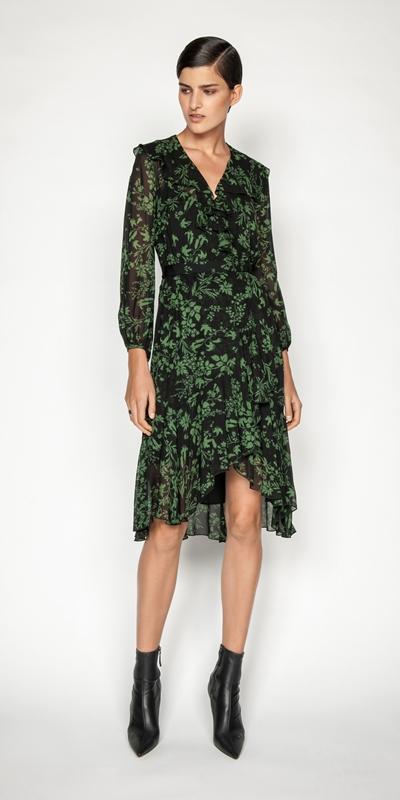 Dresses | Ivy Floral Frilled Midi Dress