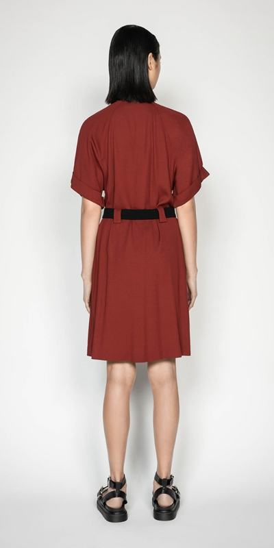 Dresses | Twill Button Front Utility Dress