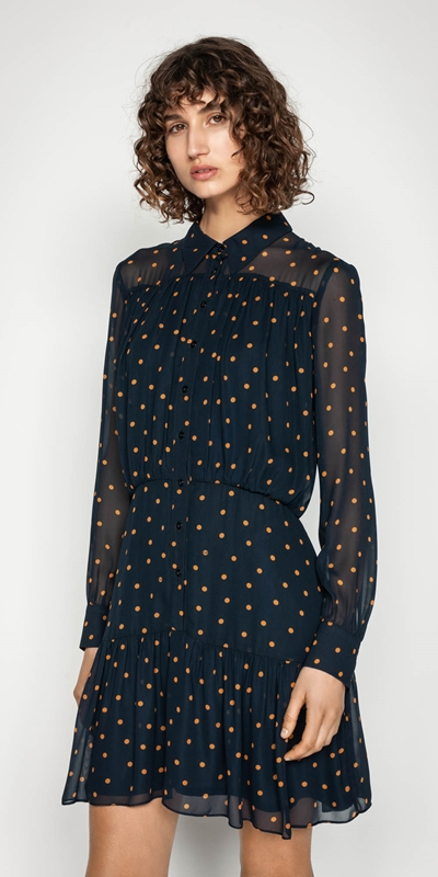 Dresses | Spot Button Front Dress