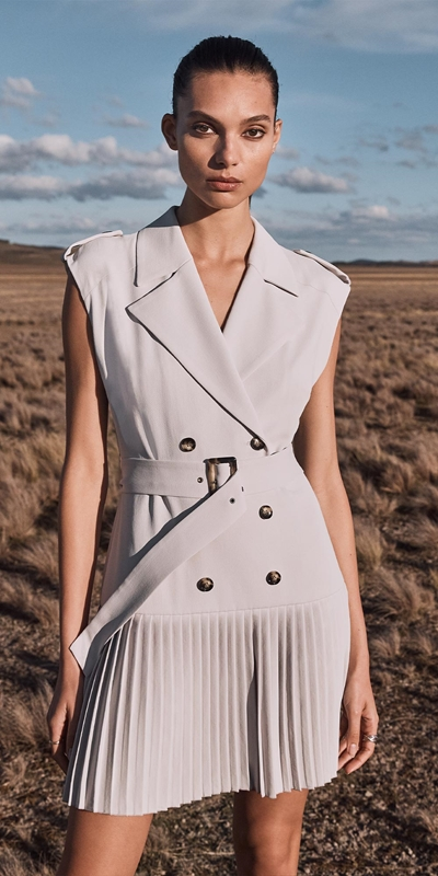 Made in Australia  | Silver Trench Dress