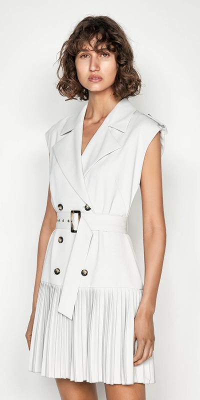 Dresses | Silver Trench Dress