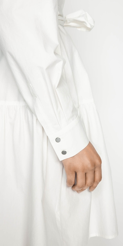 Dresses | Cotton Belted Shirt Dress