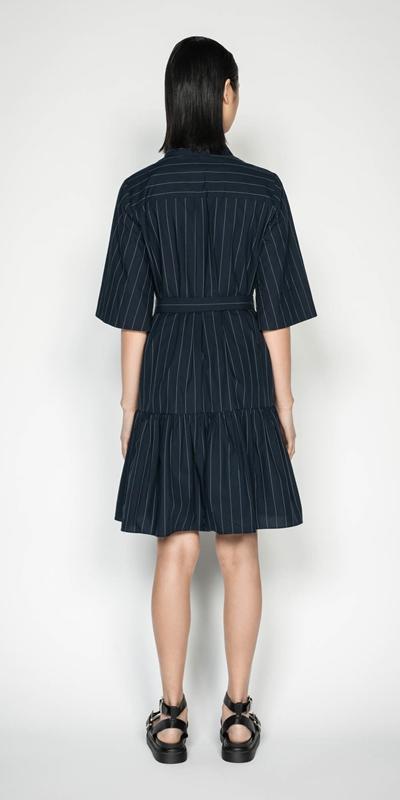 Dresses | Cotton Pinstripe Shirt Dress