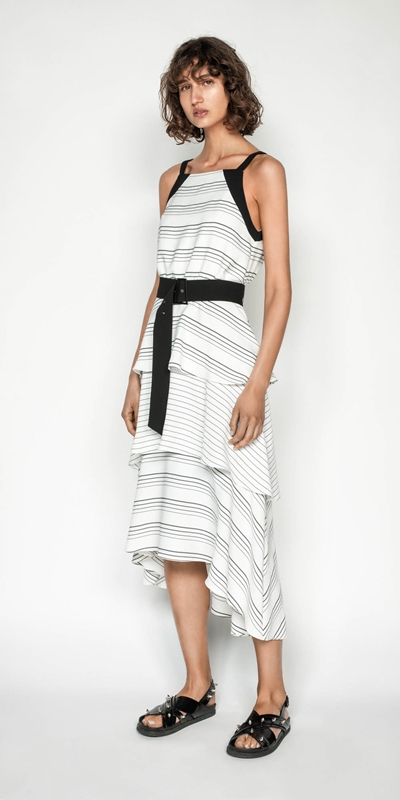 Made in Australia | Quattro Stripe Midi Dress