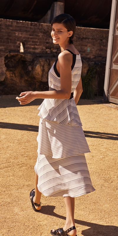 Dresses  | Quattro Stripe Midi Dress