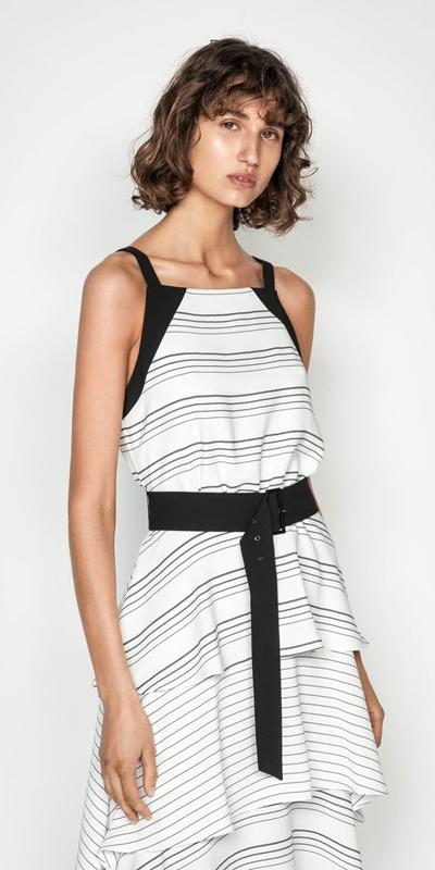 Dresses | Quattro Stripe Midi Dress